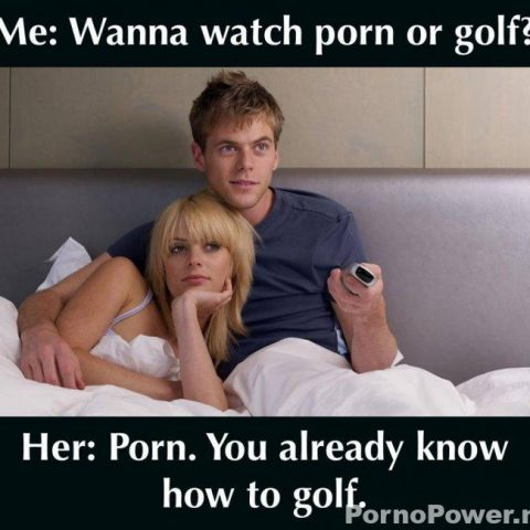 porno of golf meme